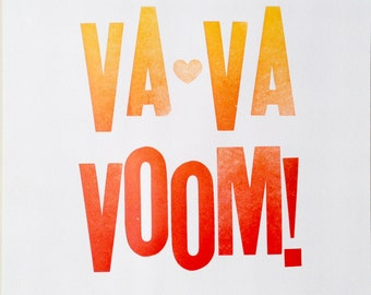 "Letterpress ""VaVaVoom!"" Print / Poster"
