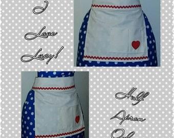 Vintage Lucy Half Apron