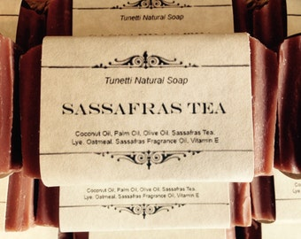 Sassafras Tea Natural Homemade Soap, Handmade soap, Natural Soap, Cold Process Soap