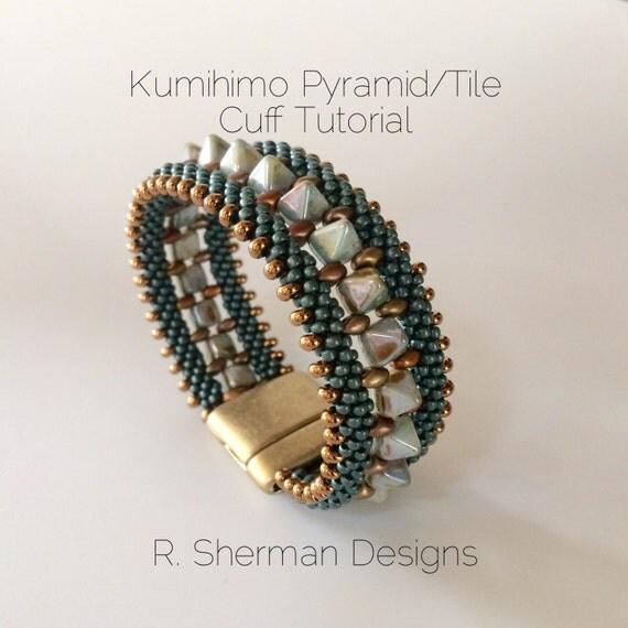 Pdf Tutorials Kumihimo Pyramid Tile Cuff Bracelets