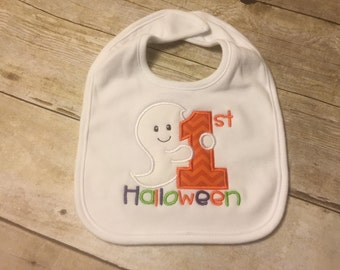 1st Halloween Bib Baby Holiday Fall Babies Accessories Boy Girl First Holiday
