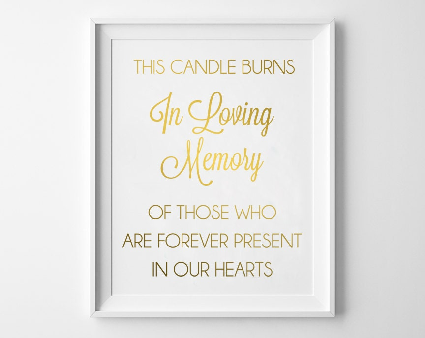 It's just an image of Accomplished This Candle Burns in Loving Memory Free Printable
