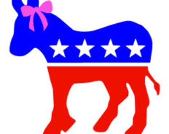 Democratic Donkey Vinyl Decal