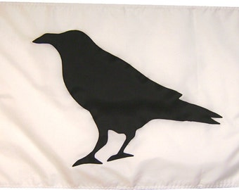 Crow (Various Sizes) Handmade Black Raven Flag