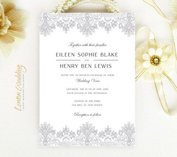 Wedding Invitations Cheap Gray Wedding Invitations Printed