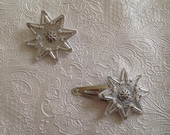 Brooch and barrette Crystal