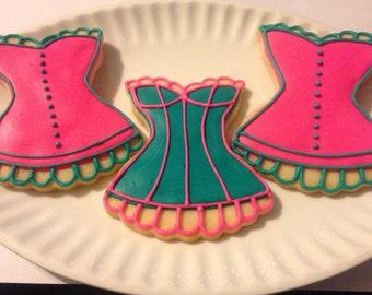 Bachelorette Party Corset Cookies