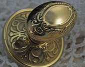 Half of A Beautiful Door Knob, Display Door Knob, Gold Color Knob, Perfect Assemblage or Altered Art Supply  #404 ok