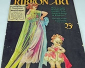Antique Ribbon Art 1923 VERY RARE, Beautiful, Creating With Ribbon, Color Illustrations, Endorsed by The Silk Association of America #494 ok