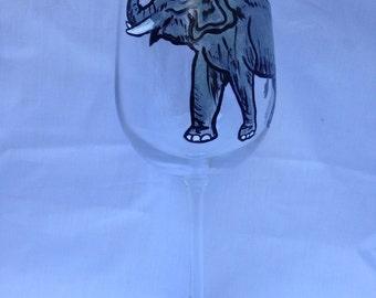 Elephant Wine Glass