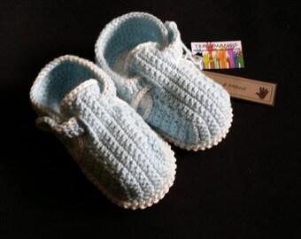 Baby BOOTIES blue LEO