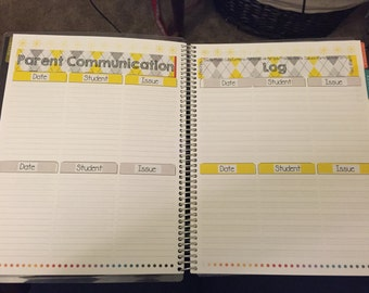 EC Teacher Planner - Parent Communication Log Stickers