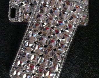 Unique Glossy Luxury Bling Clear Sparkles Charms Gems Square Crystals Rhinestones Diamonds Fashion Lovely Hard Cover Case for Mobile Phones