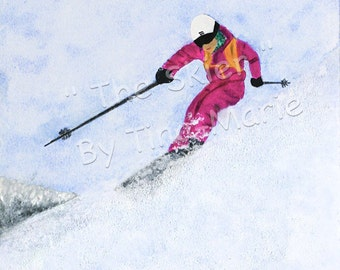 THE SKIER - Giclee Print