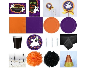 Halloween Birthday Standard Party in a box. Invitation. Decoration. Favors. Centerpiece.