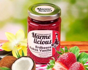 Strawberry coconut vanilla fruit spread