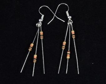 Resistor earrings - electrical engineer jewelry - engineer earrings - technology jewelry - gift for electrical engineer - ece jewelry
