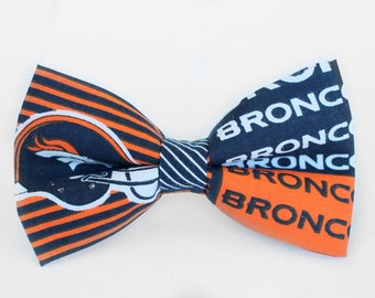 Denver Broncos Bow Tie | NFL Bow Tie | Bowtie | Football Bow Tie | For Him | Gift for Him | Sports Bow Tie | NFL