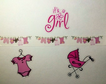 Baby Girl Clothesline Washi Tape