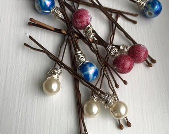 Beautiful Beaded Bobby Pins