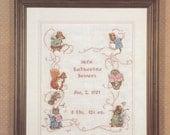Cross Stitch Booklet - Beatrix Potter Births Sampler II Cross Stitch Pattern - Counted Cross Stitch Pattern Book