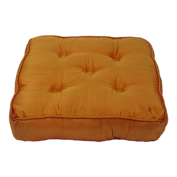 Large Moroccan Tufted Floor Pillows : Large Tufted Silk Floor Cushion