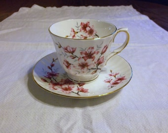 Vintage Duchess Almond Blossom Bone China Tea Cup and Saucer