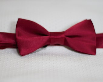 Red wine Satin Bow Tie