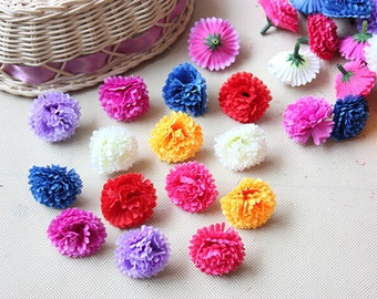"""50 Pcs Clove Heads Artificial Silk Flowers,1.57"""",Hair Accessories Flower Supply,For Wedding Pomander Kissing Ball Table Centerpieces(131-36)"""