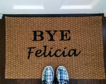 Bye Felicia Natural Door Mat