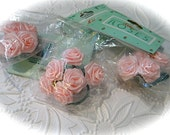 3 Pink Ribbon Roses Floral Supplies Corsages RR-117