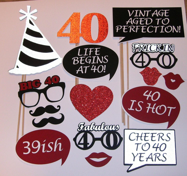 40th birthday photo prop fabulous 40 39ish 2139d for 40th birthday decoration ideas
