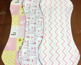 Flannel Burp Cloth Set