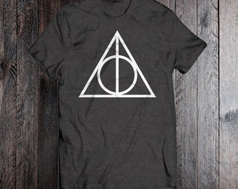 Harry Potter Deathly Hallows Adult & Youth Unisex Tee - HP Fan - Muggle - Triangle - Kids - Boys - Girls - Mens - Womens