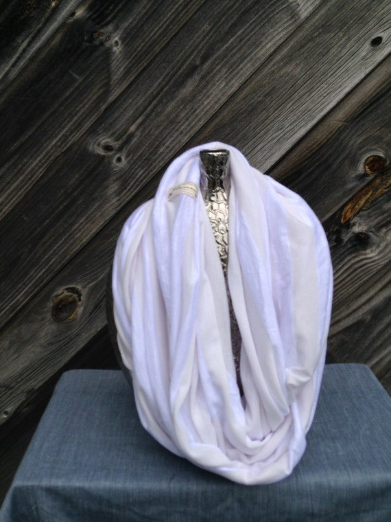 white, light weight eternity scarf/shrug  -A summer must have!