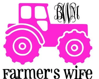 This decal is SOOO cute for all the farmer wives out there. The vinyl is quality vinyl that will last up to 7 years!
