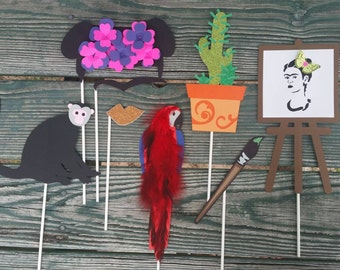Frida Kahlo Custom Photo Booth Props