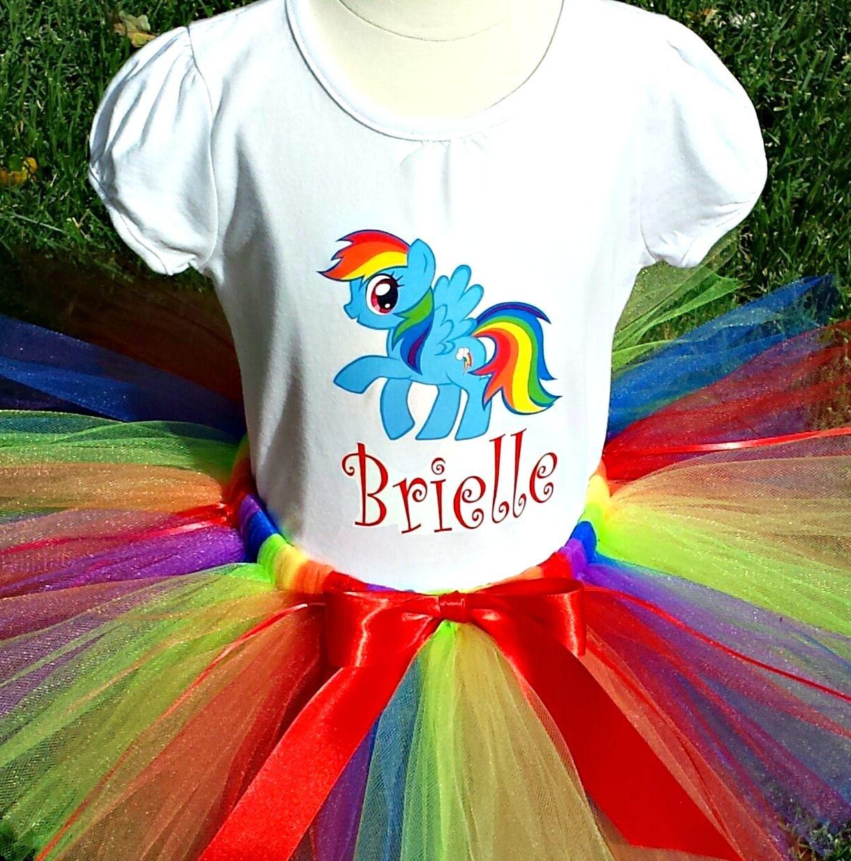 First Birthday Tutu My Little Pony Birthday Outfit Rainbow
