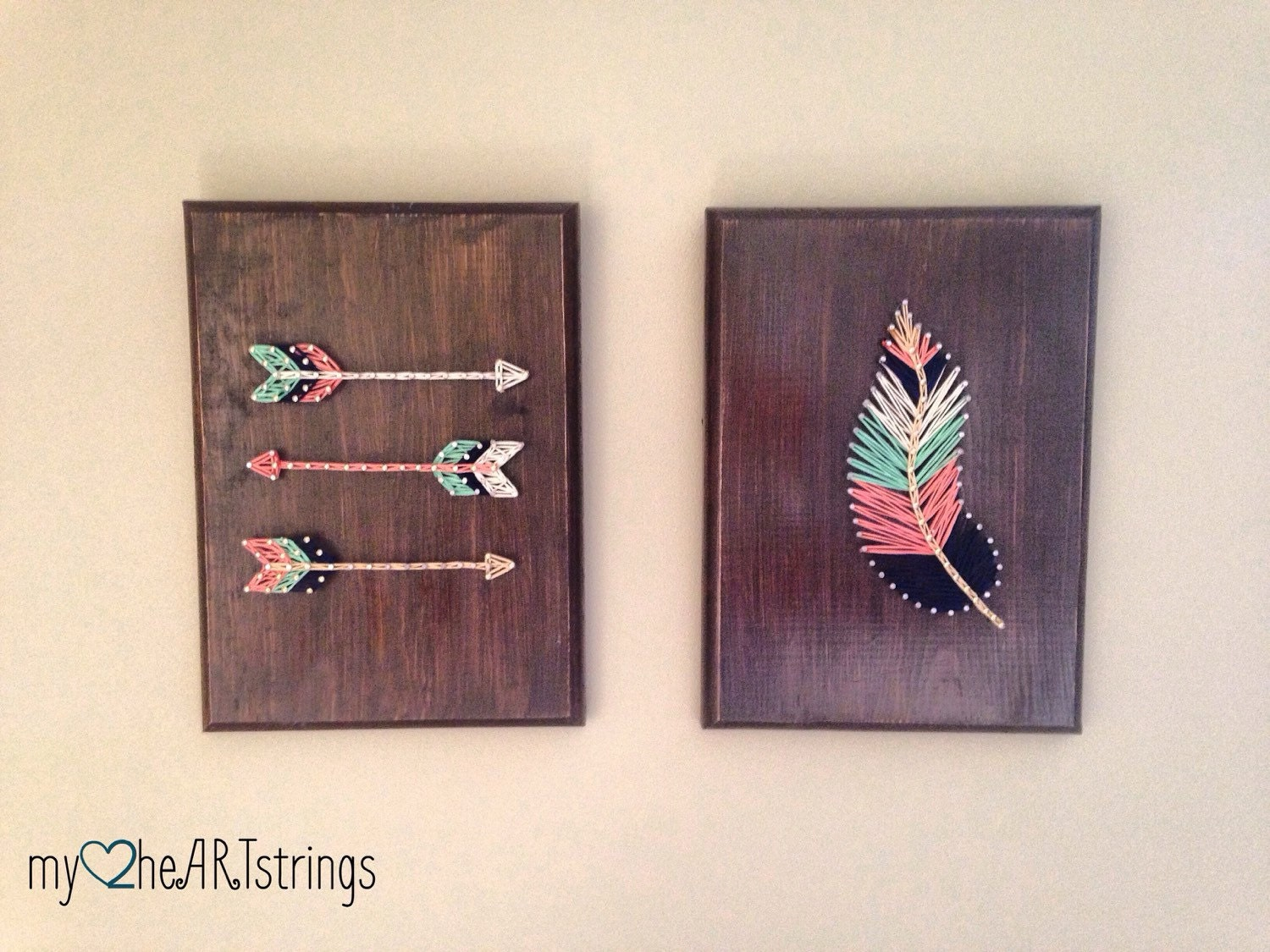 String Art Feather And Arrow Set