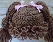 Cabbage Patch Hat Custom Made!!! NB-Large Adult