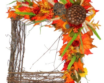 Pair of Square Fall Wreaths