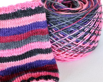 Discontinued Colorway Hand Dyed Self Striping Yarn - Vampire Sunrise