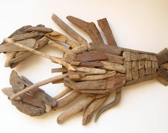 driftwood driftwood wooden lobster wall decor