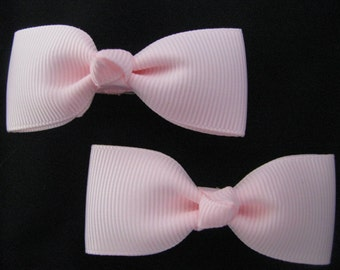 baby girl hair accessories light pink bow clips