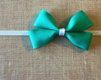 Teal Bow Baby Headband