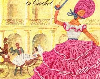 Crinoline Lady in Crochet - 1949 Original Pattern Booklet