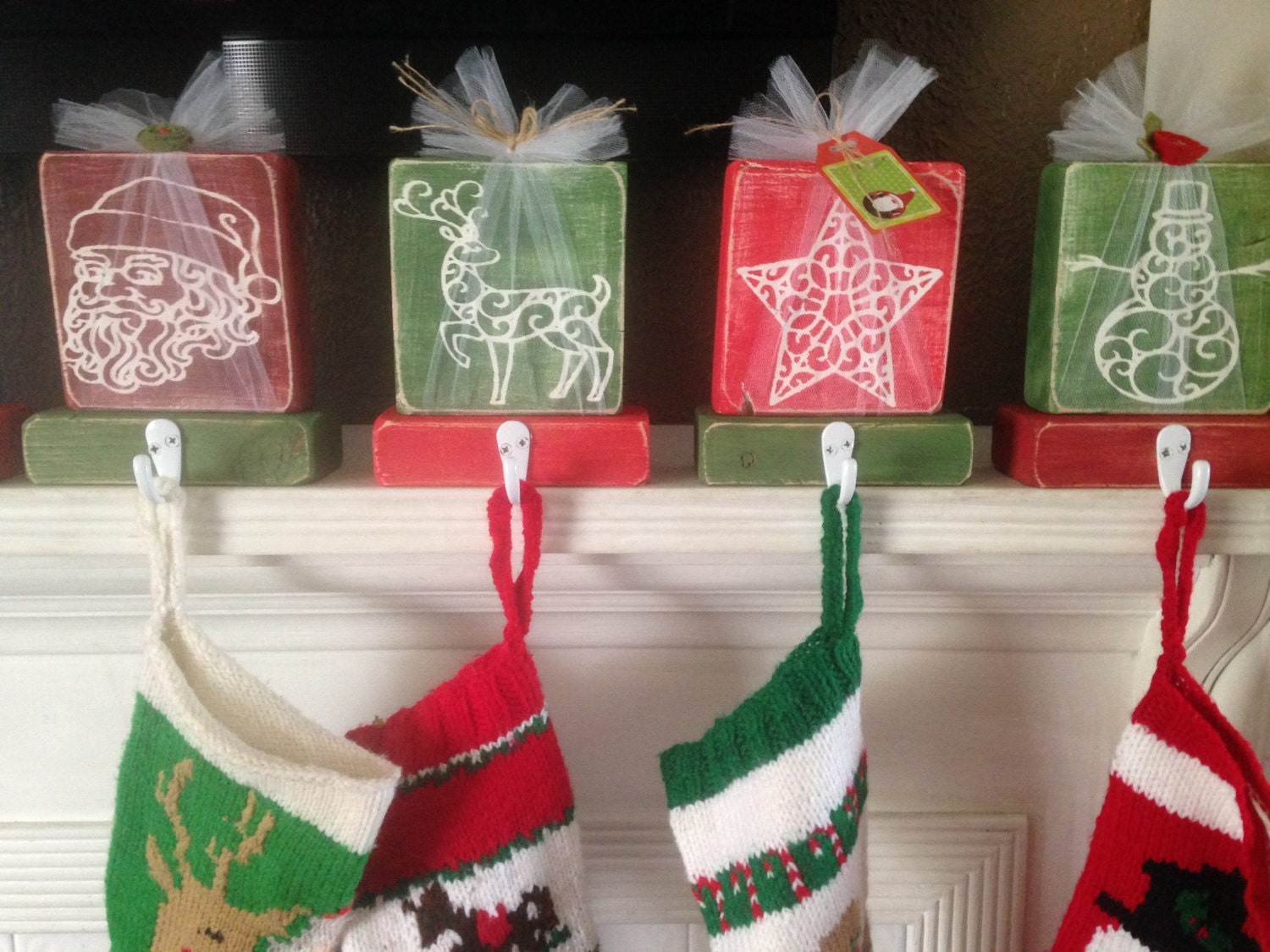 Christmas stocking hangers set of