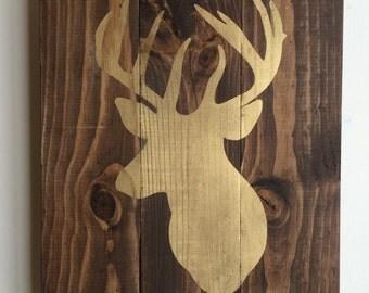 Gold Deer Silhouette
