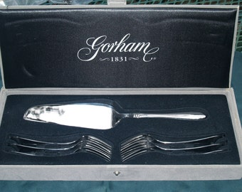 Gorham Cake Knife and Dessert Fork Set