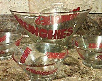 Munchies snack bowl vintage set